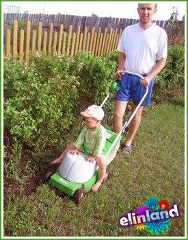 Выкашивание молодого газона